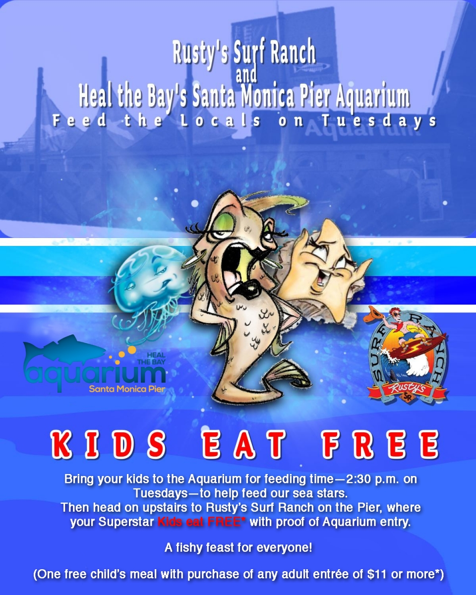 Kids Eat Free at Rusty's Surf Ranch Coupon