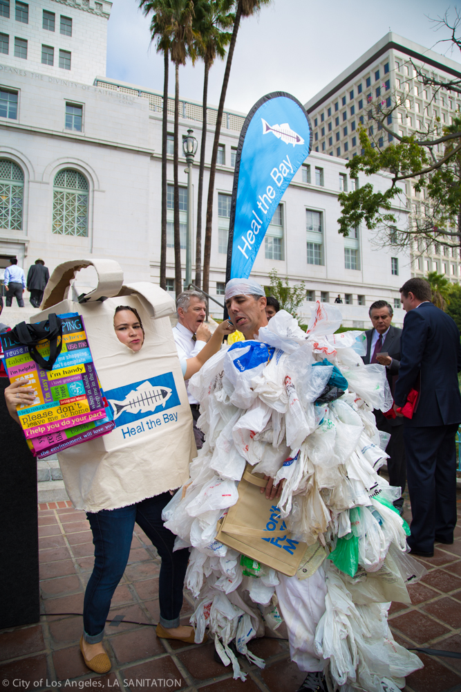 Heal the Bay Bag Monster LA Bag Ban