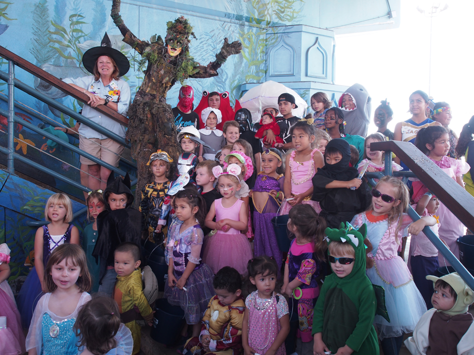 Halloween parade at Santa Monica Pier Aquarium
