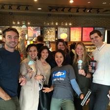 Heal the Bay staff enjoying an El Niño Frappucino at Starbucks