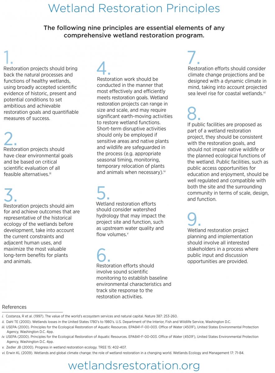 Wetland Restoration Principles
