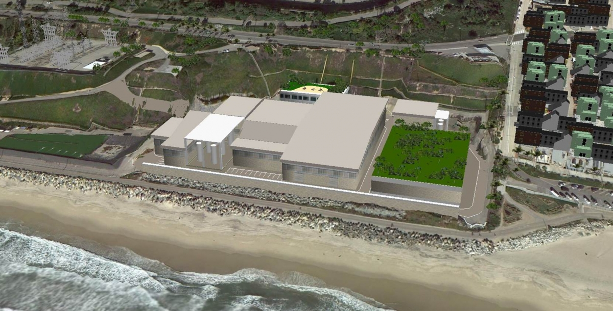 Digital rendering of desalination plant, courtesy of West Basin Municipal Water District