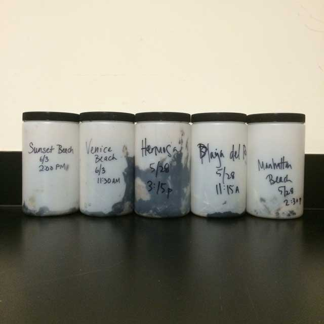 Oil and tar samples from L.A. area beaches