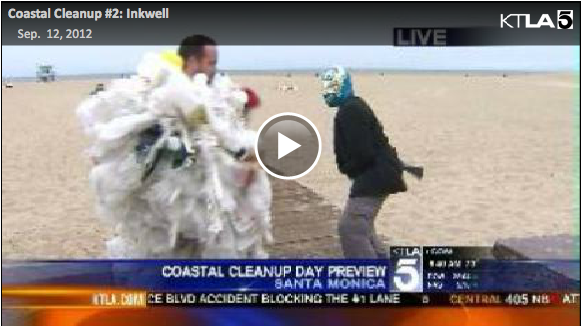 Coastal Cleanup Day 2012 on KTLA Gayle Anderson Morning News