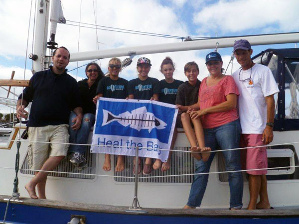 Heal the Bay's Eddie and Nina with the Adventure Voyaging crew