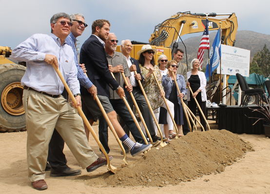 Ground breaking at Malibu