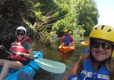 Heal the Bay staff scientists kayaking the L.A. River