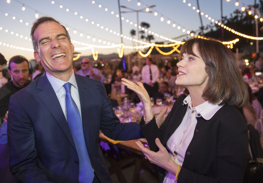 Eric Garcetti and Zooey Deschanel at Heal the Bay Gala 2018