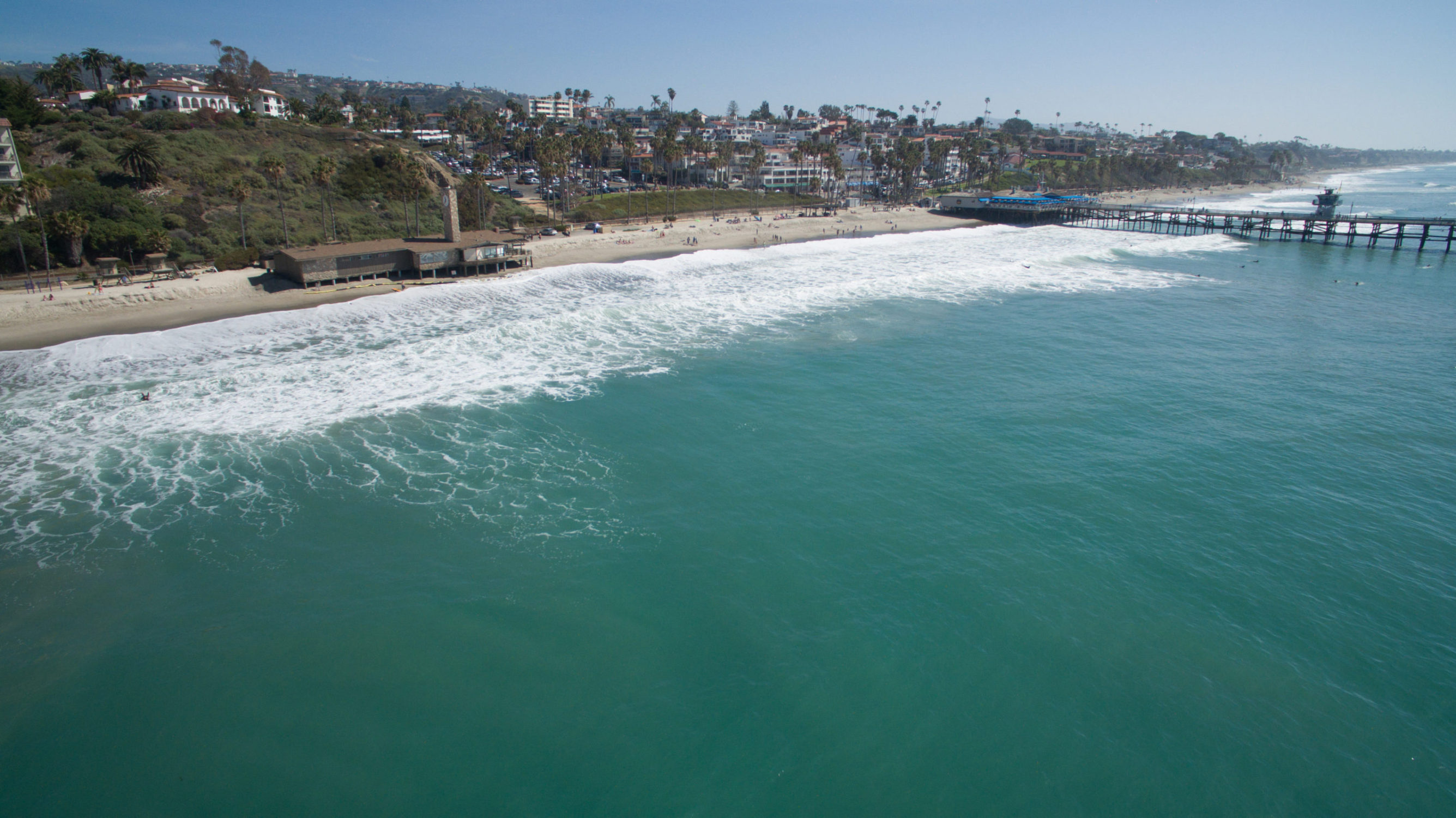Aerial View of San Clemente Coast and Pier