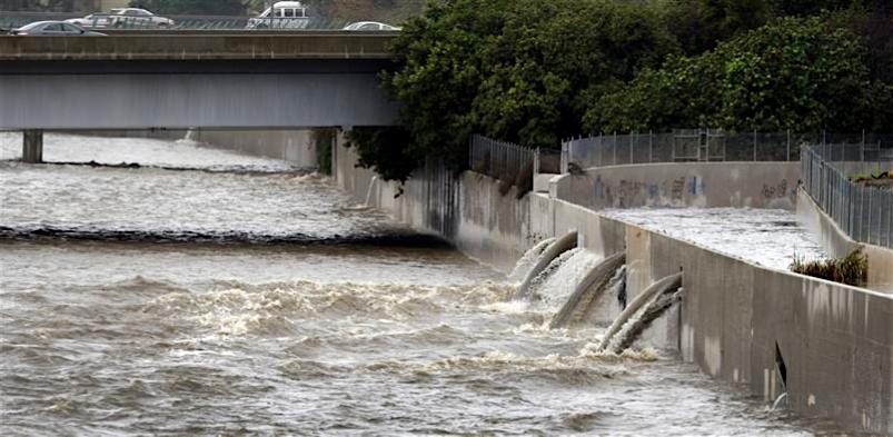 Flowing LA River