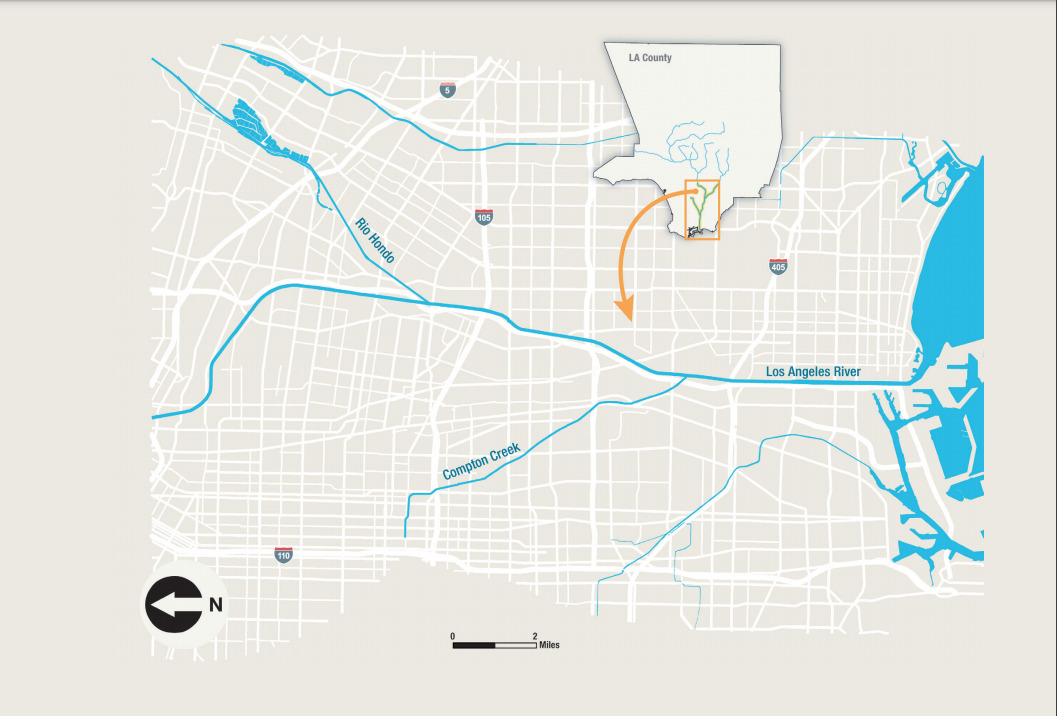 Lower LA River Plan Map