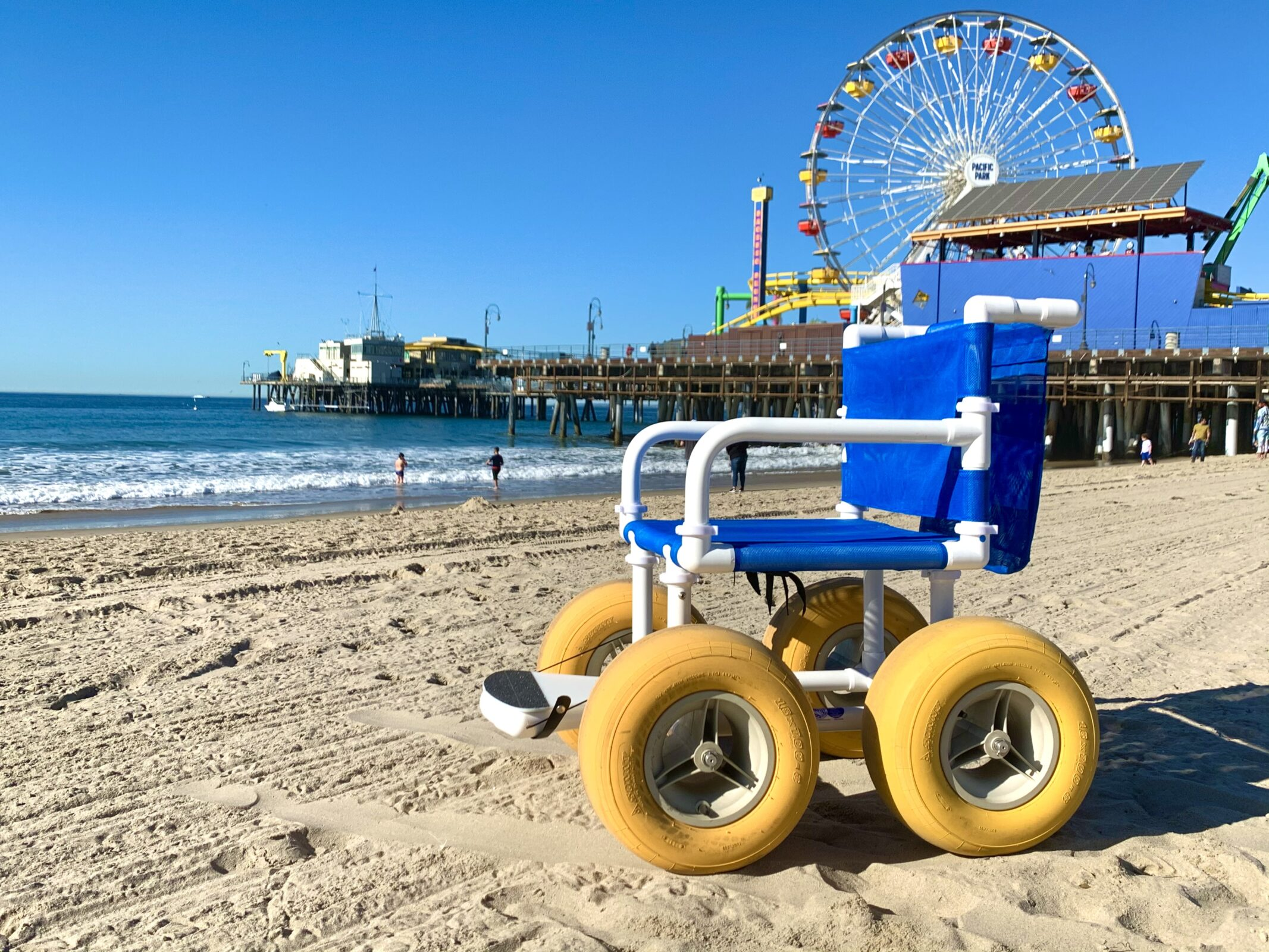 Beach Wheelchair at Santa Monica Pier