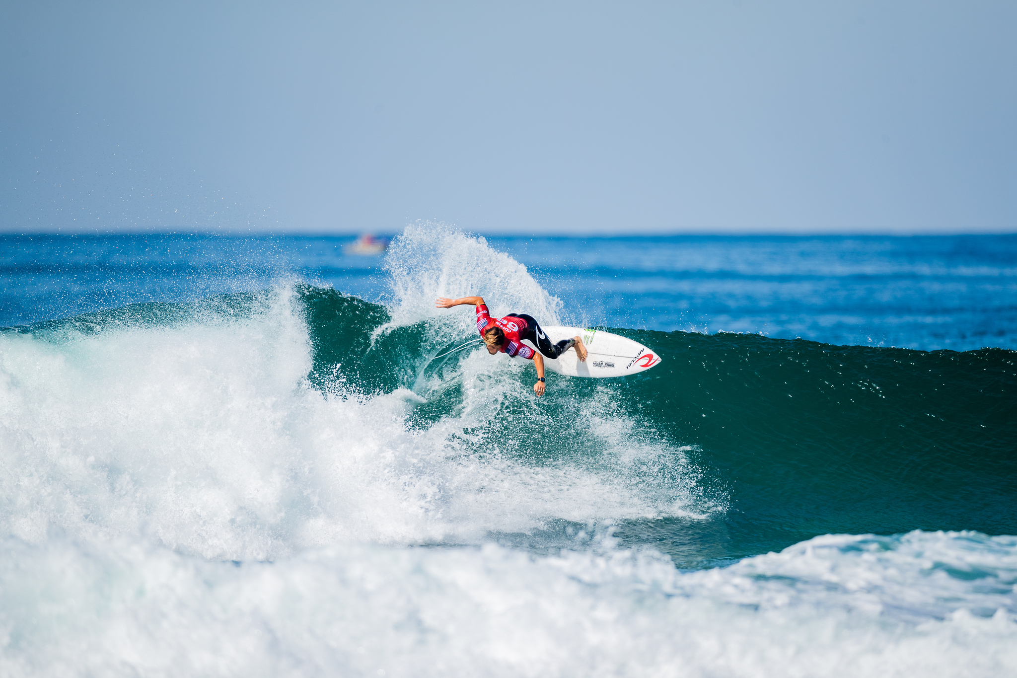 NARRABEEN, AUS - APRIL 20: Conner Coffin of the United States surfing in Heat 3 of the Quarterfinals of the Rip Curl Narrabeen Classic presented by Corona on April 20, 2021 in Narrabeen, Australia. (Photo by Matt Dunbar/World Surf League via Getty Images)